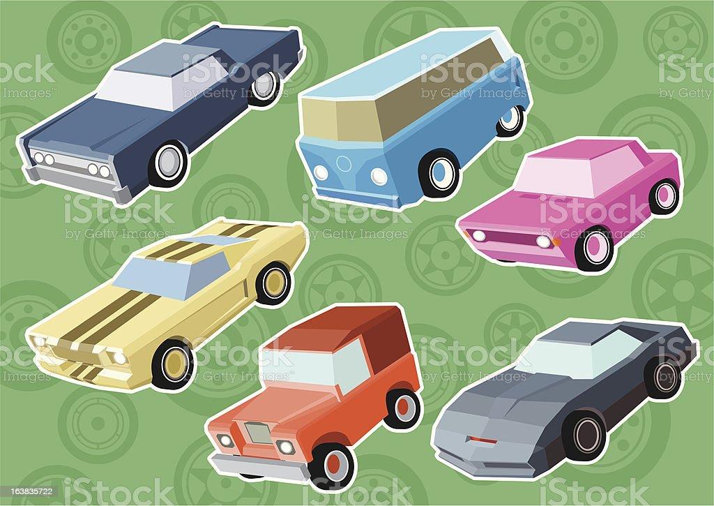 Cars III vector art illustration