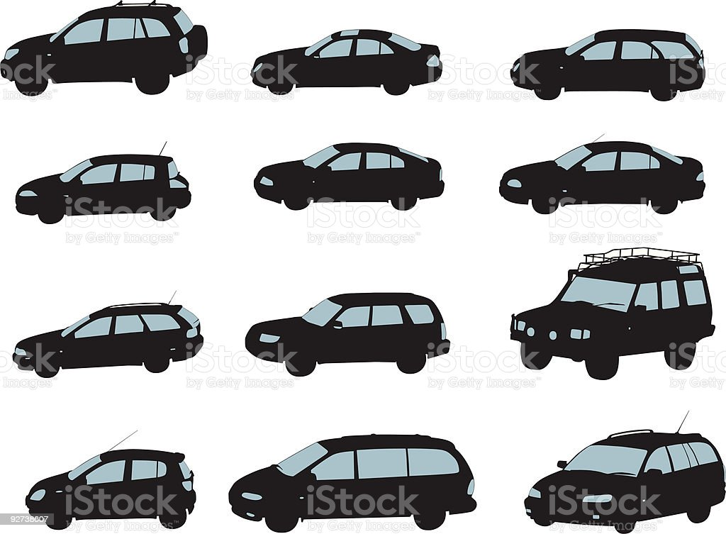 cars (vector) royalty-free stock vector art