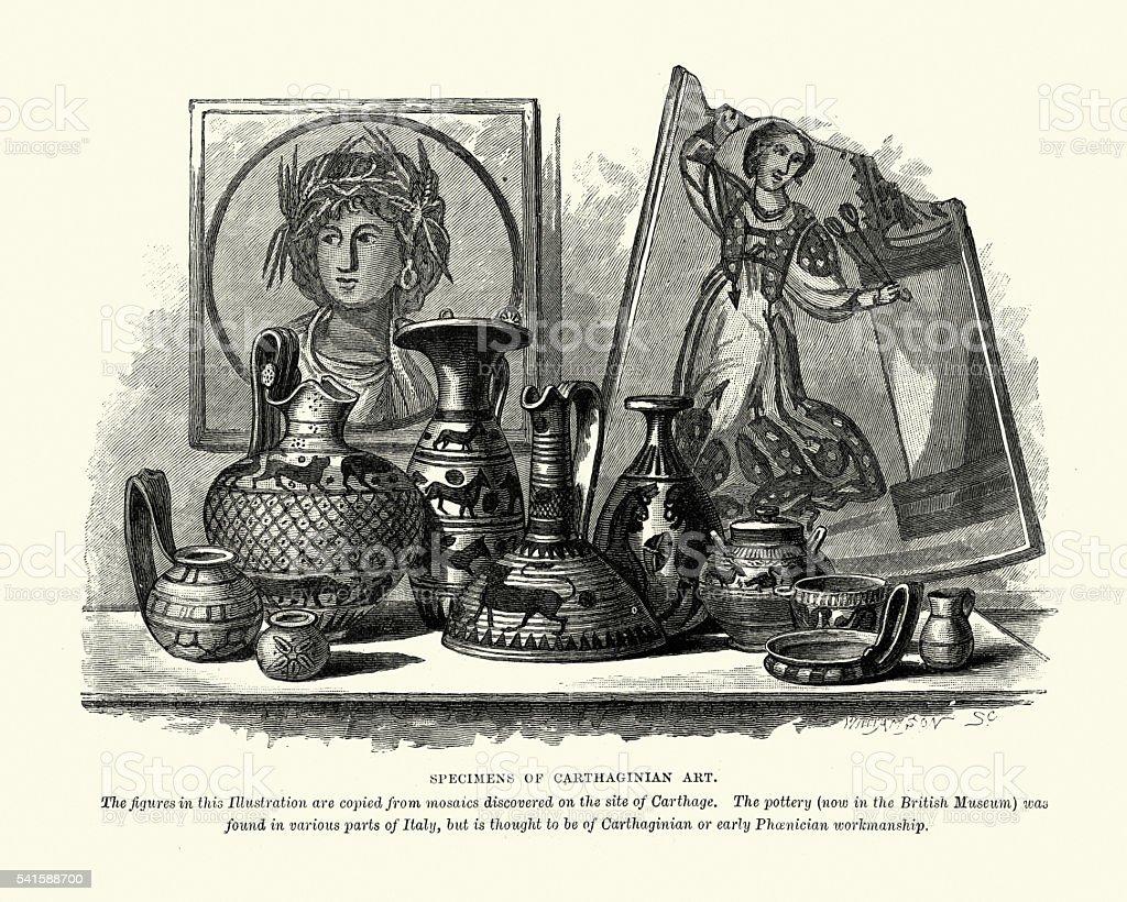 Carthaginian Art vector art illustration