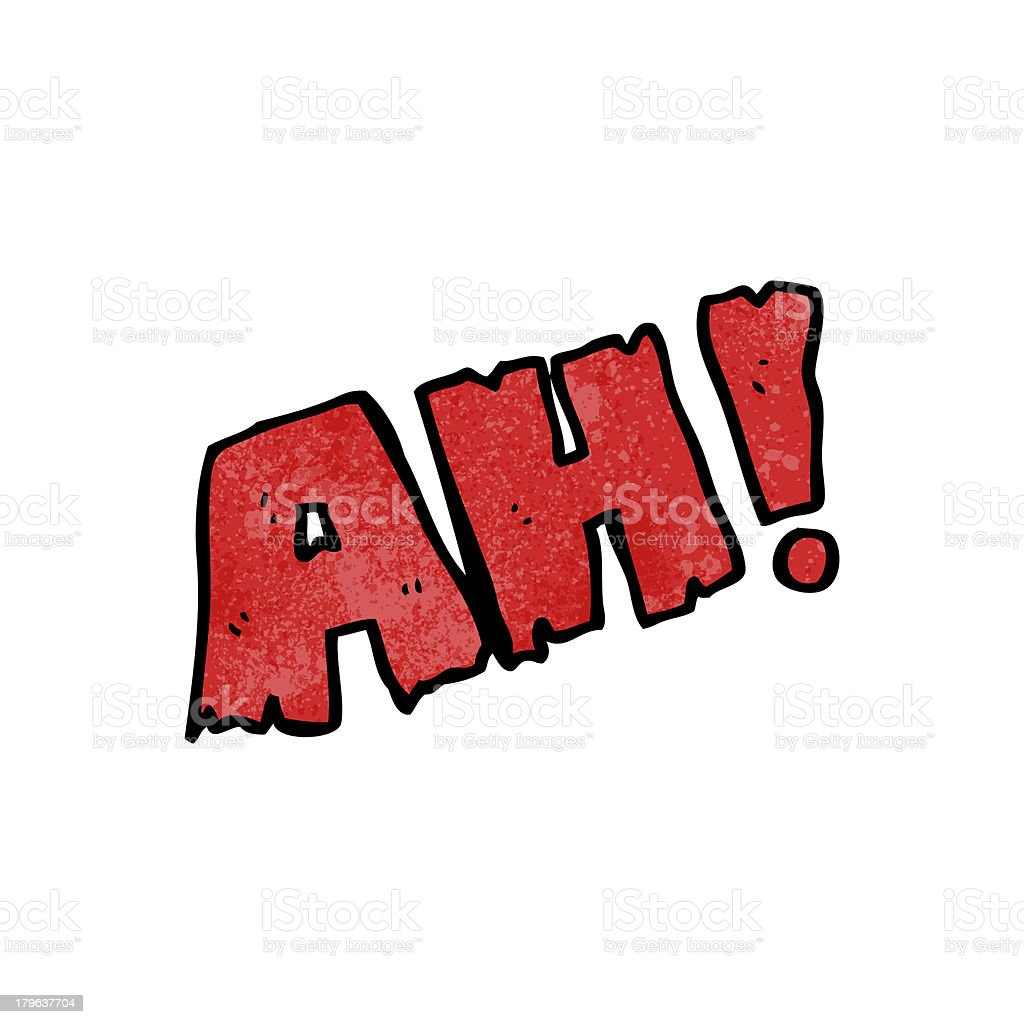 cartoon ah! shout royalty-free stock vector art