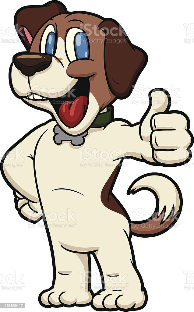 Cartoon beagle royalty-free stock vector art
