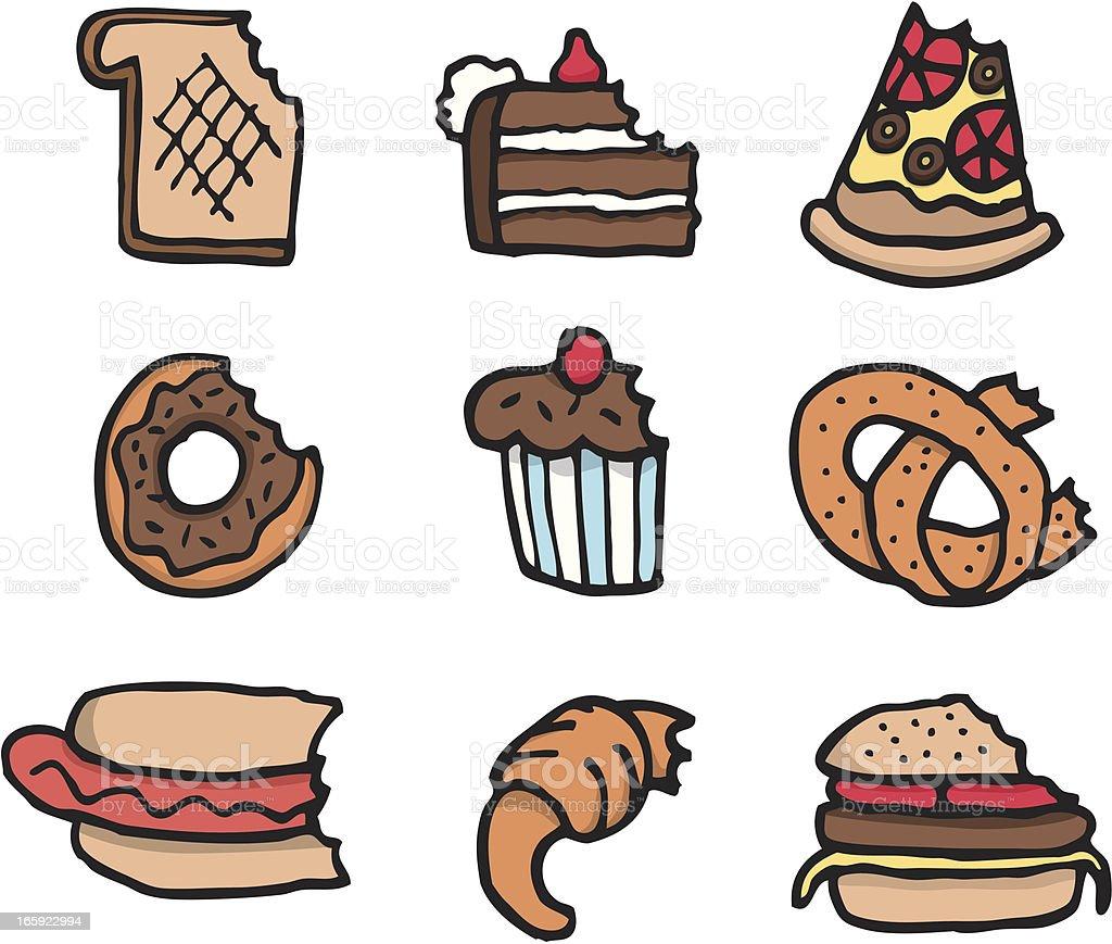 Französische küche comic  Comic Bitten Essen Set Vektor Illustration 165922994 | iStock