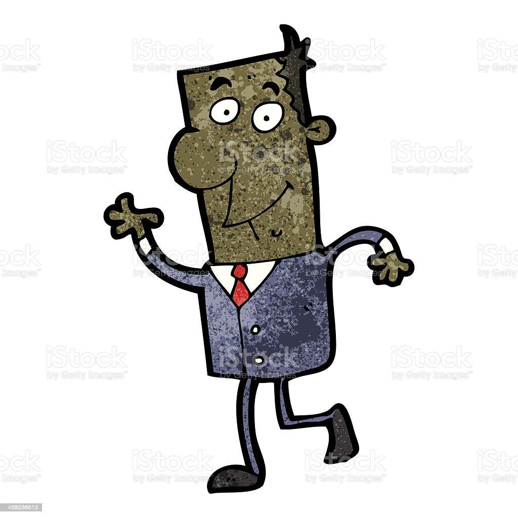 cartoon businessman walking to work royalty-free stock vector art