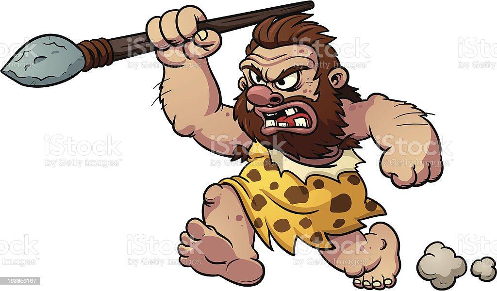 Cartoon caveman royalty-free stock vector art
