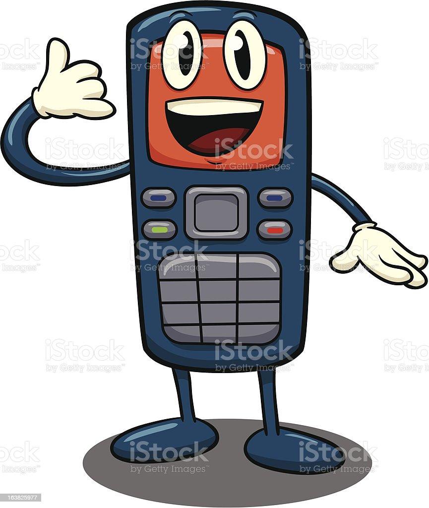 Cartoon cellphone royalty-free stock vector art