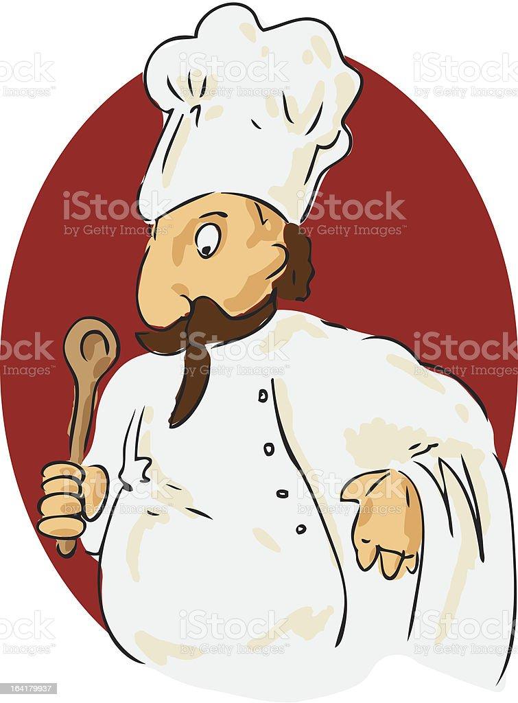 Cartoon chef royalty-free stock vector art