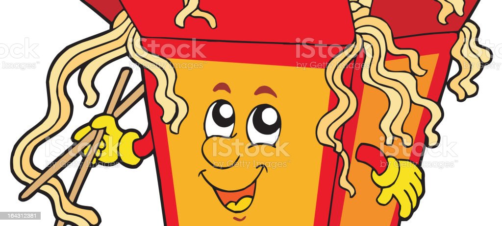 Cartoon Chinese food royalty-free stock vector art