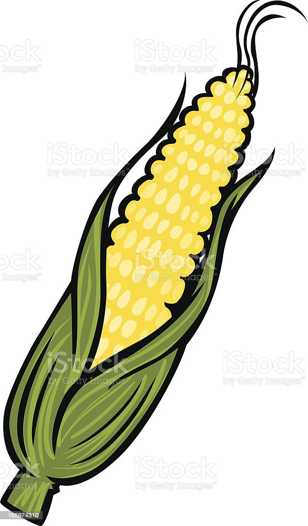 cartoon corn vector art illustration