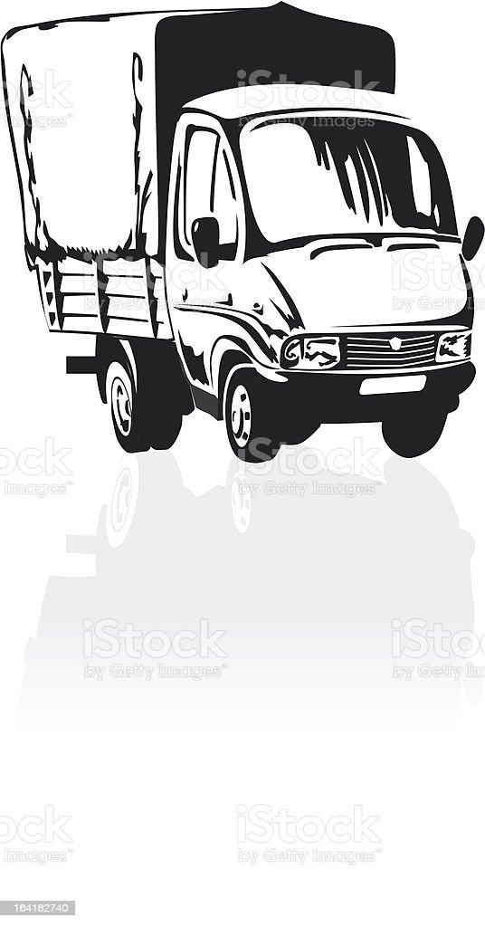 Cartoon delivery / cargo truck royalty-free stock vector art
