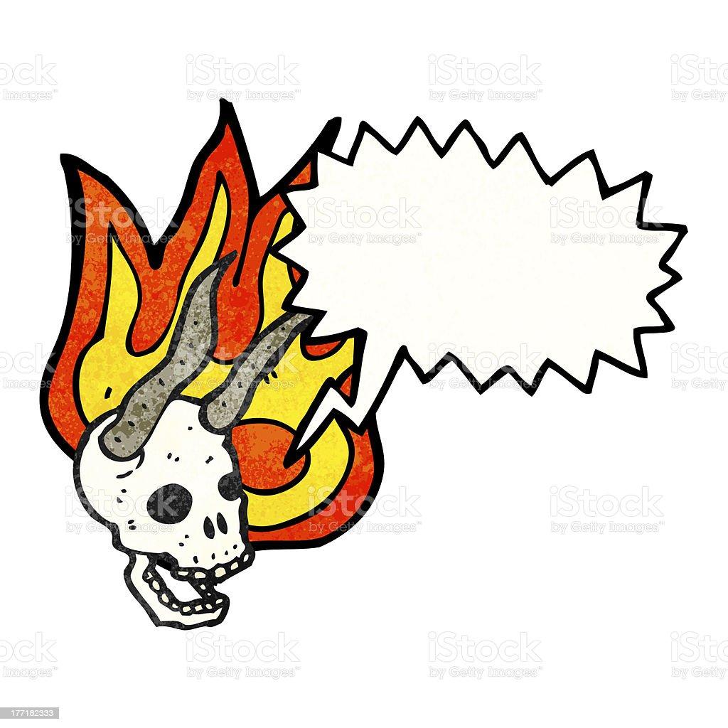 cartoon devil skull royalty-free stock vector art