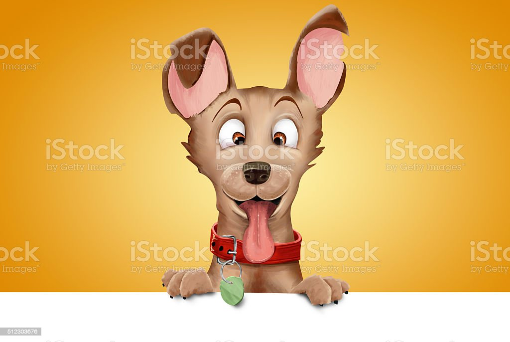 Cartoon Dog vector art illustration