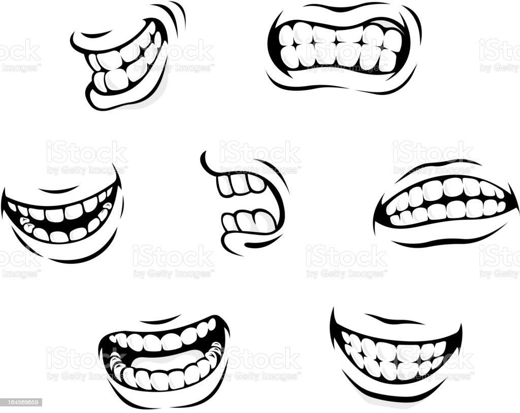 Cartoon expressions vector art illustration