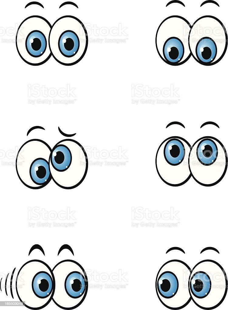 cartoon eyes vector art illustration
