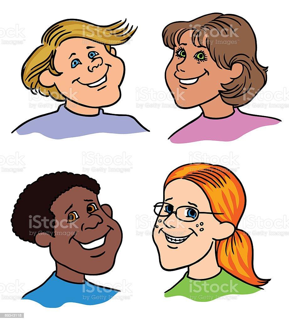 Cartoon faces2 royalty-free stock vector art