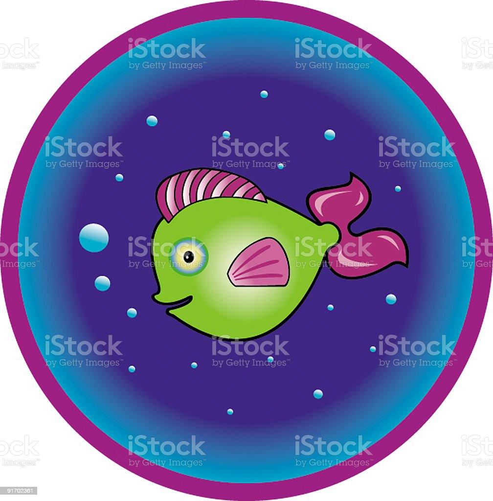Cartoon fish / Poisson rigolo vector art illustration