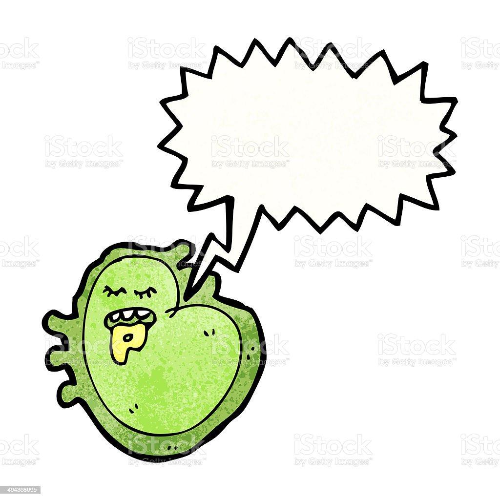 cartoon germ with speech bubble royalty-free stock vector art