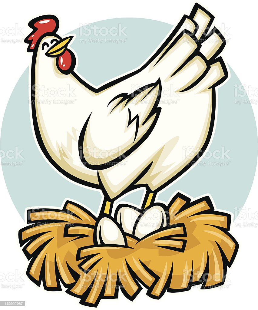 cartoon hen royalty-free stock vector art
