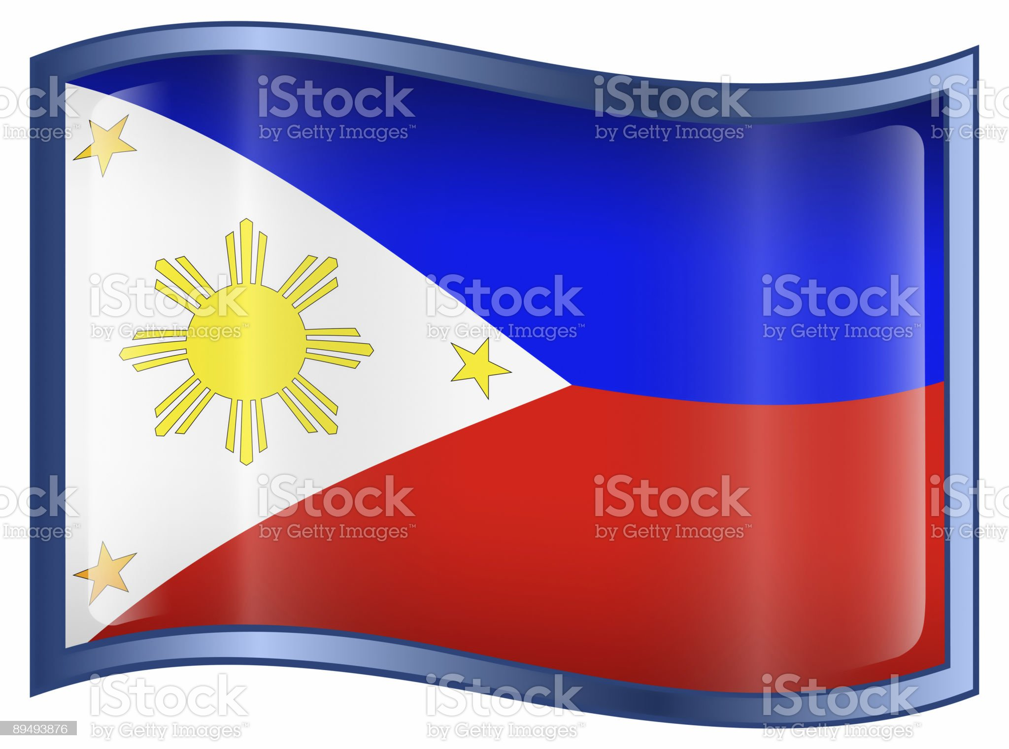 A cartoon image of the Philippines flag royalty-free stock vector art