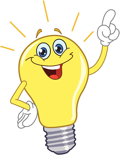 Light Bulb Cartoon Human Finger - 33.6KB