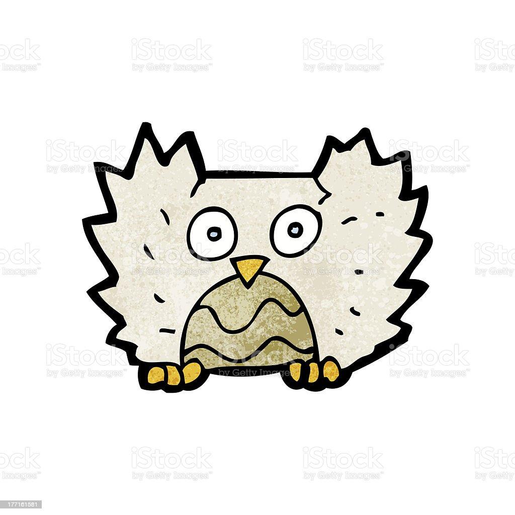 cartoon little owl royalty-free stock vector art