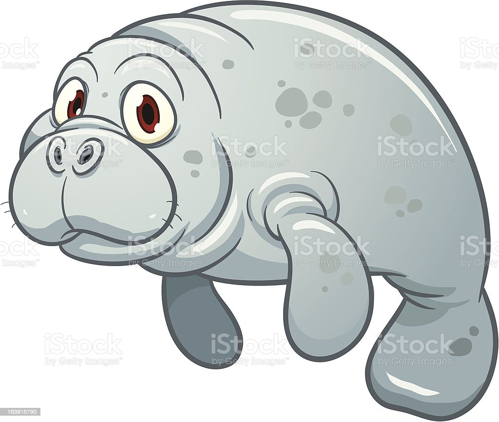 Clip Art Manatee Clip Art cartoon manatee stock vector art 163915790 istock royalty free art