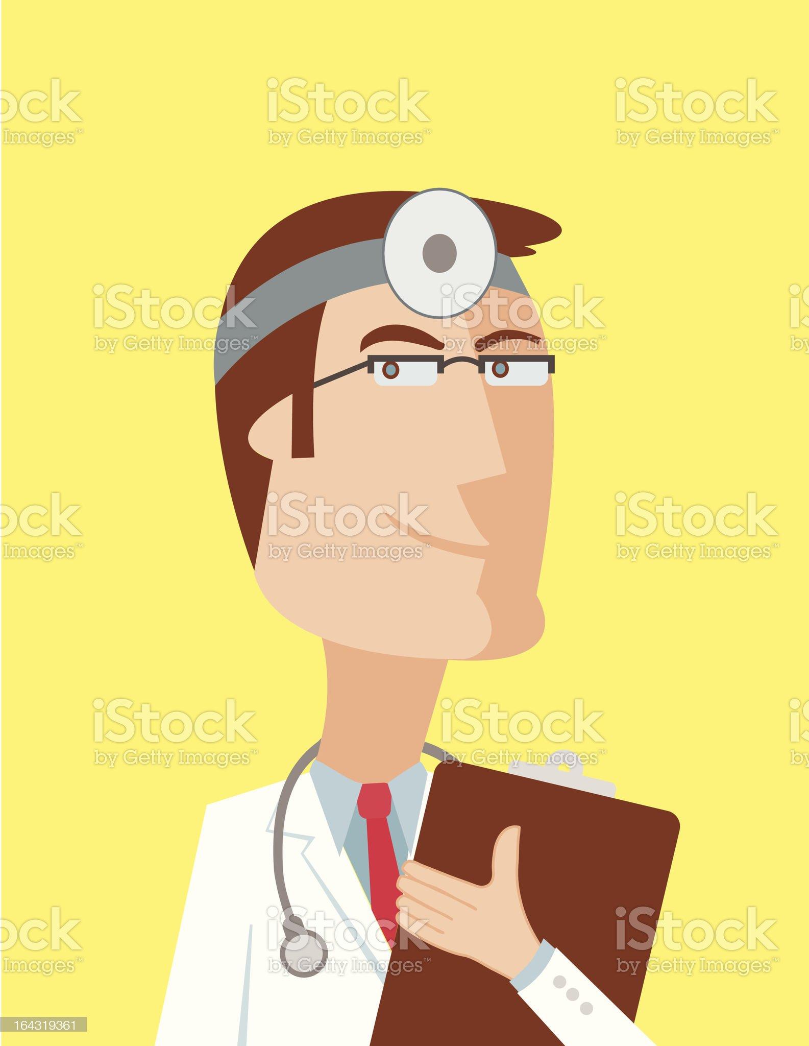 Cartoon Medical Doctor royalty-free stock vector art