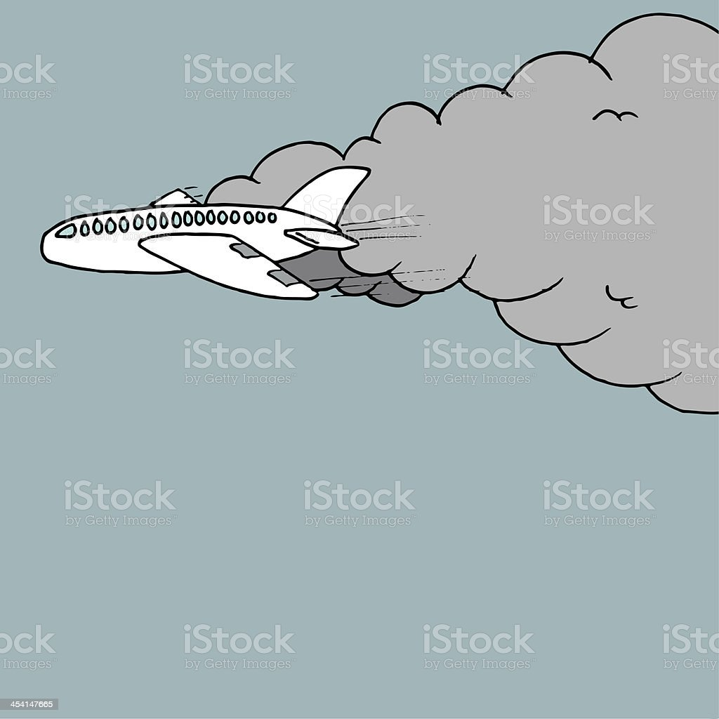 Cartoon plane royalty-free stock vector art