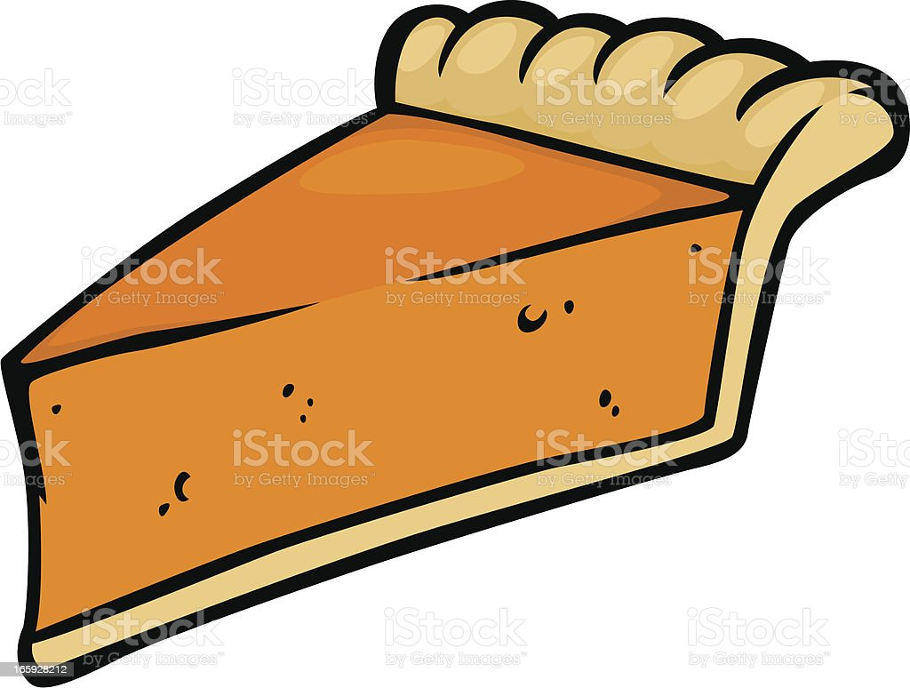cartoon pumpkin pie royalty-free stock vector art