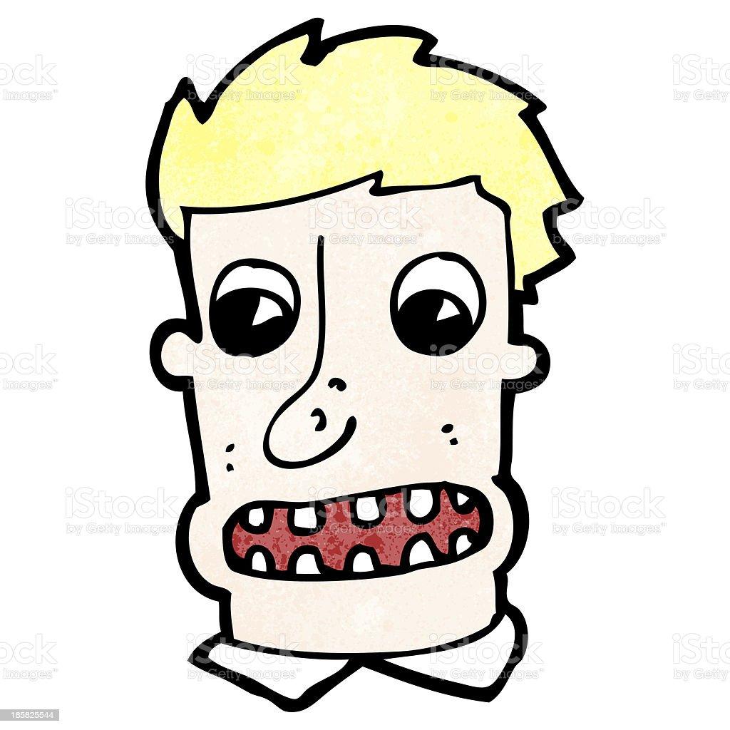 cartoon shocked man vector art illustration