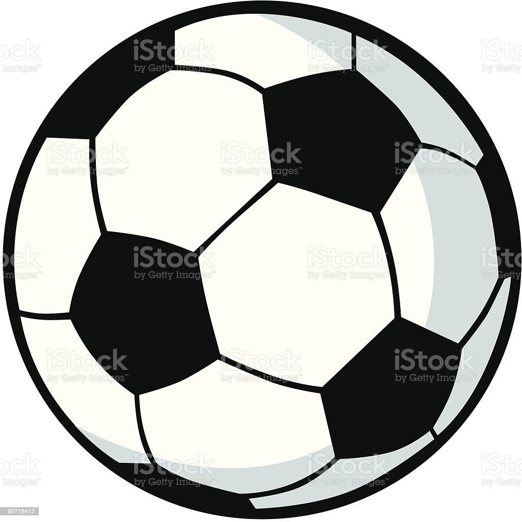 Cartoon Soccer Ball vector art illustration