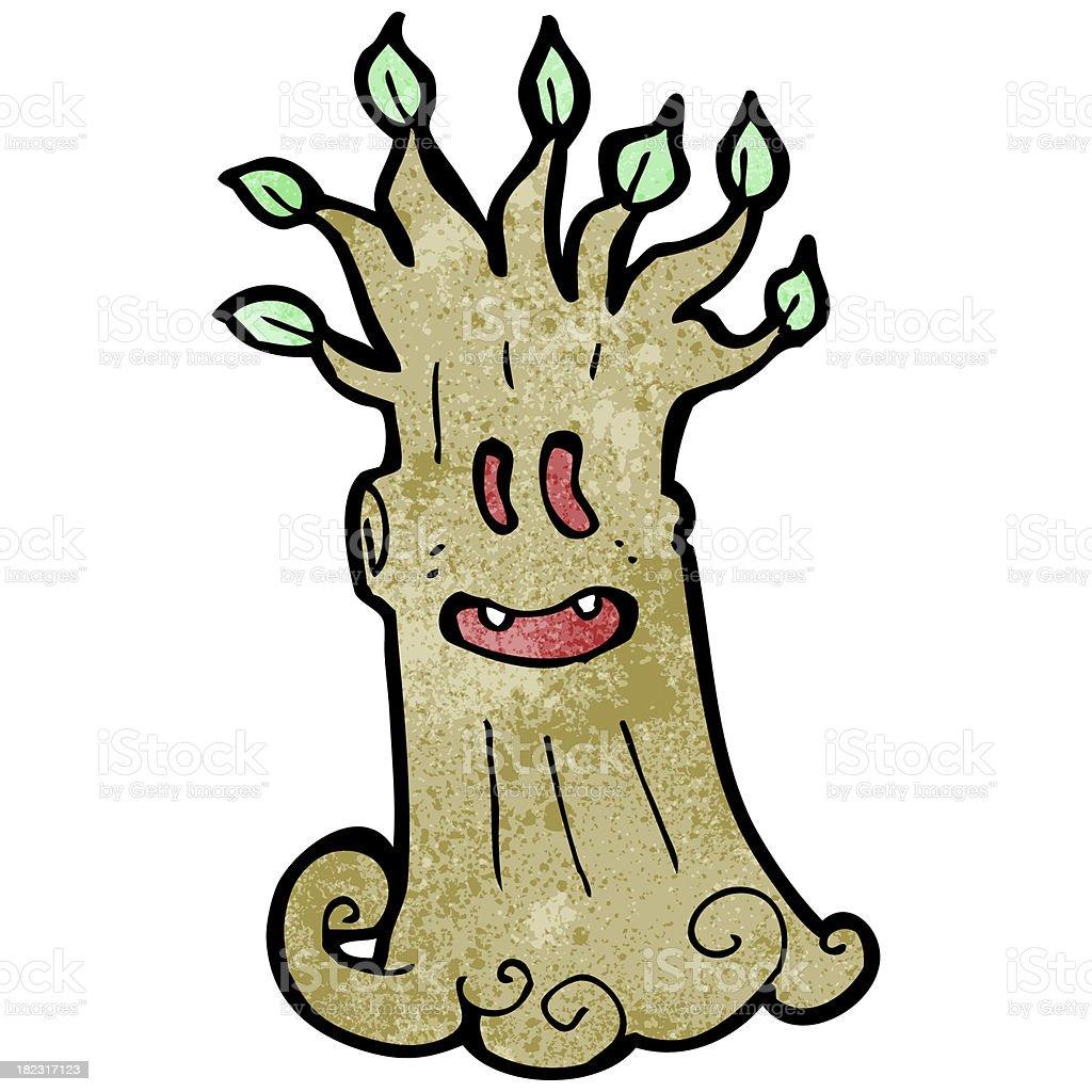 cartoon spooky tree royalty-free stock vector art