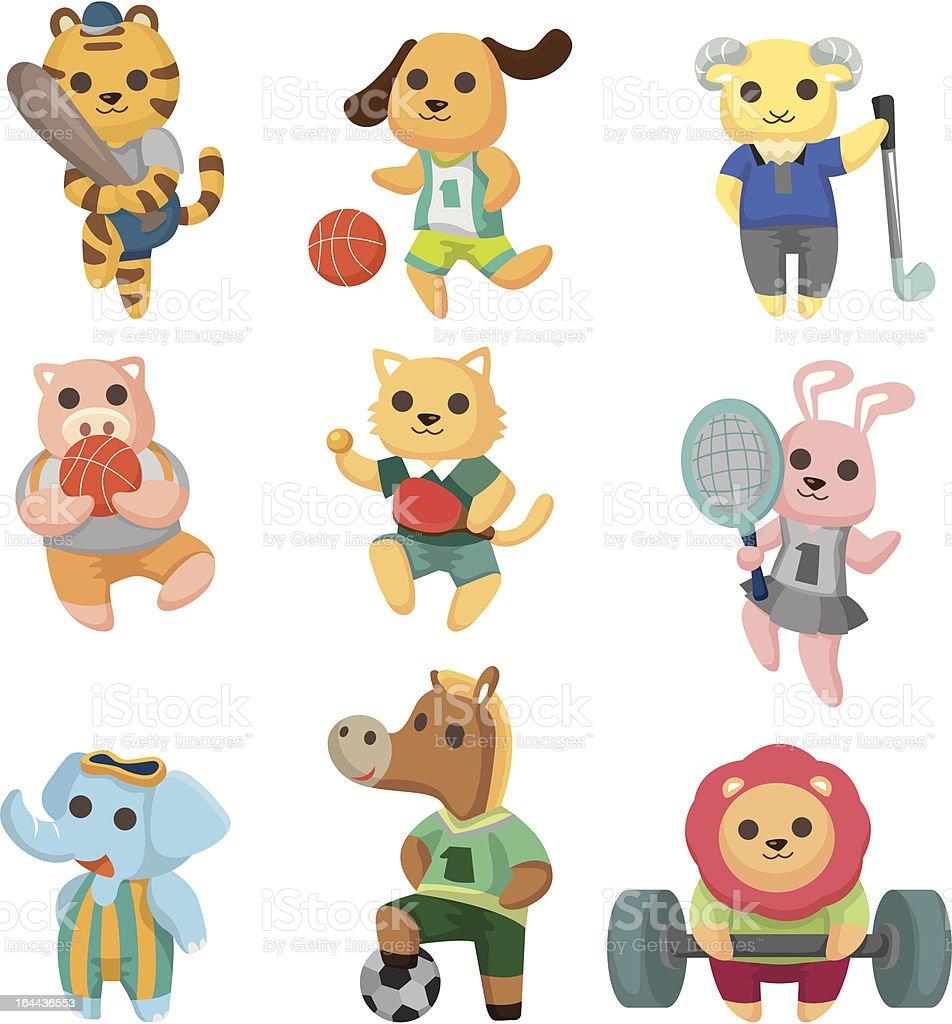 cartoon sport animal icons royalty-free stock vector art