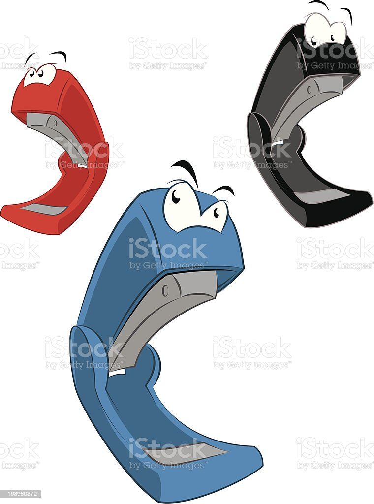 Cartoon stapler royalty-free stock vector art