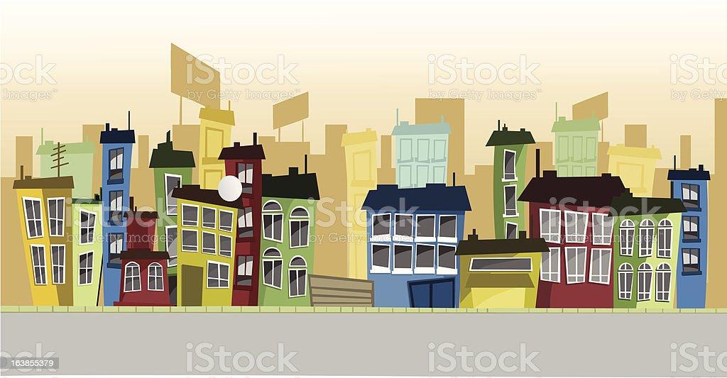 Cartoon street royalty-free stock vector art