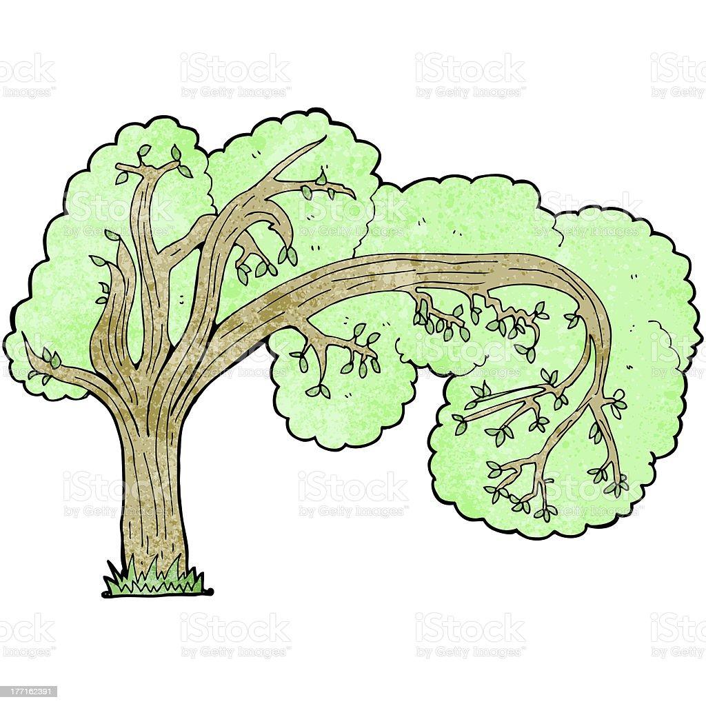 cartoon twisty tree royalty-free stock vector art
