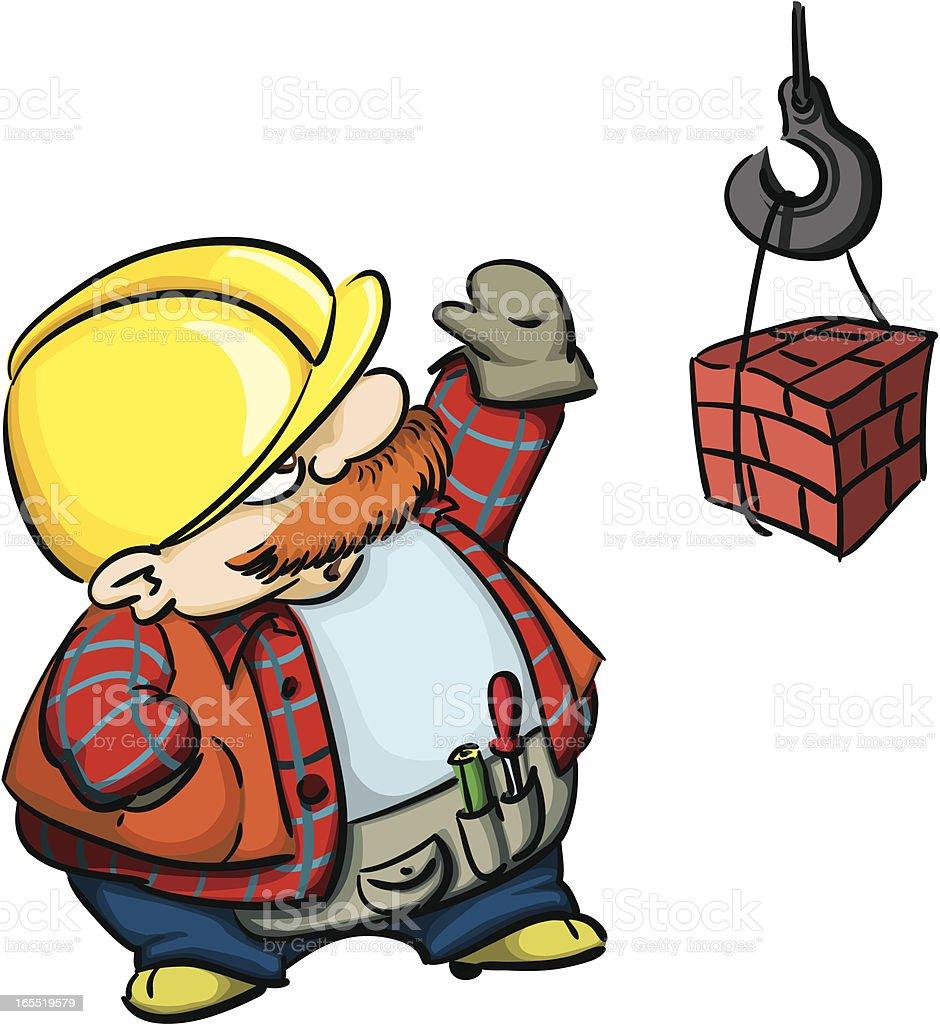 Bauarbeiter bei der arbeit comic  Comicstil Bauarbeiter Vektor Illustration 165519579 | iStock