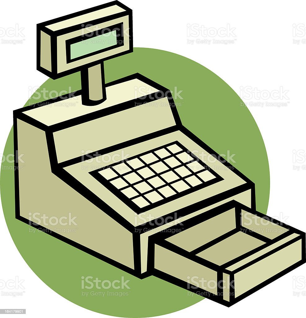 cash register machine royalty-free stock vector art