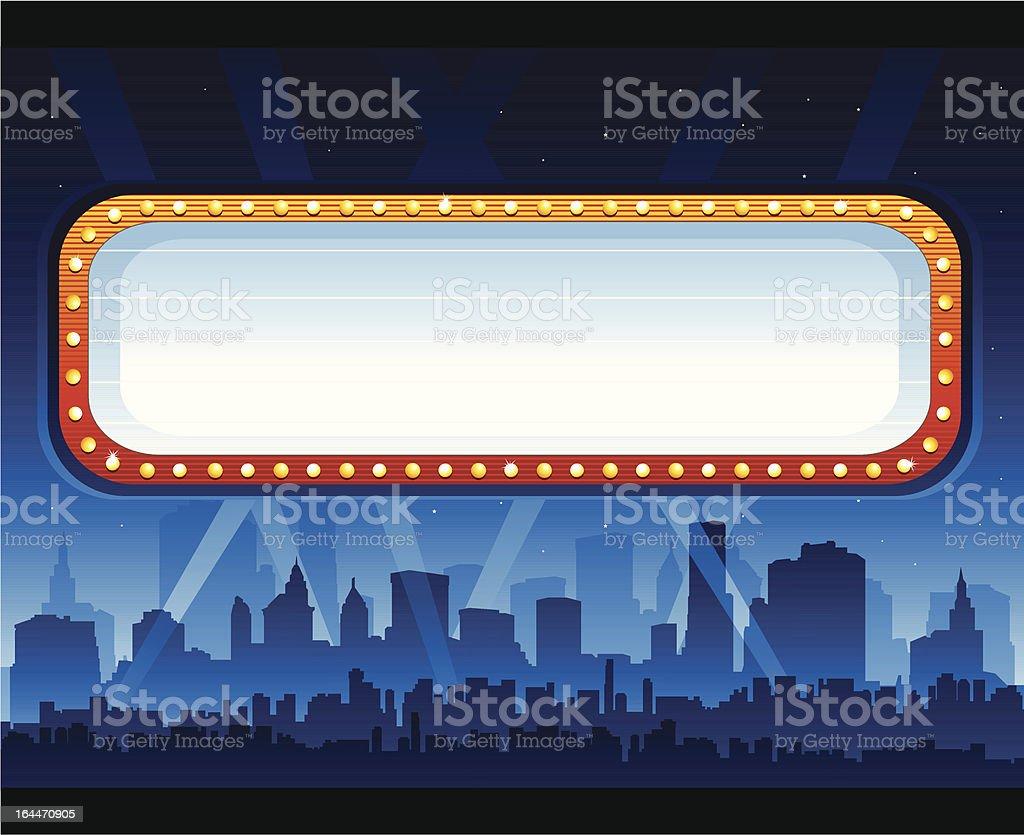 Casino banner sign vector art illustration