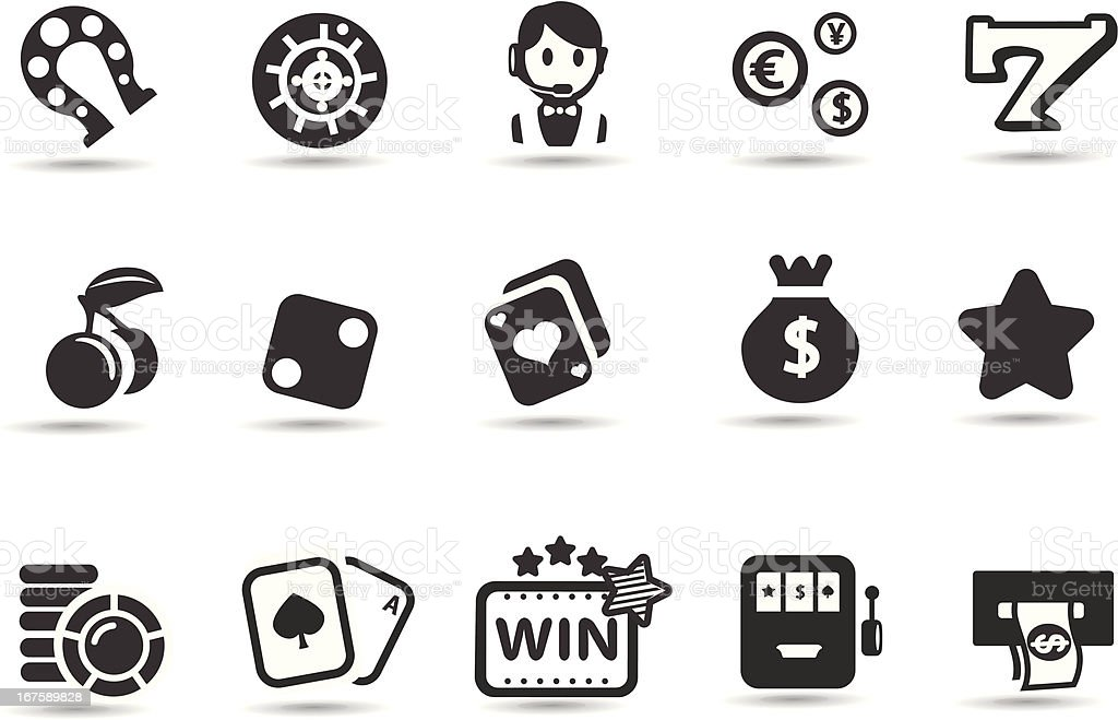 Casino Icon Set vector art illustration
