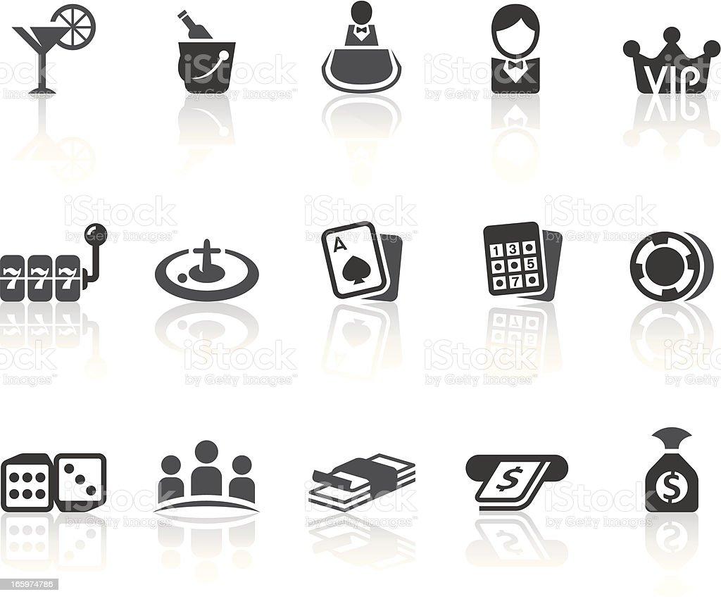 Casino Icons | Simple Black Series vector art illustration