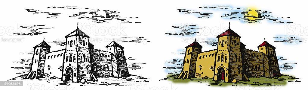 castle 2 royalty-free stock vector art