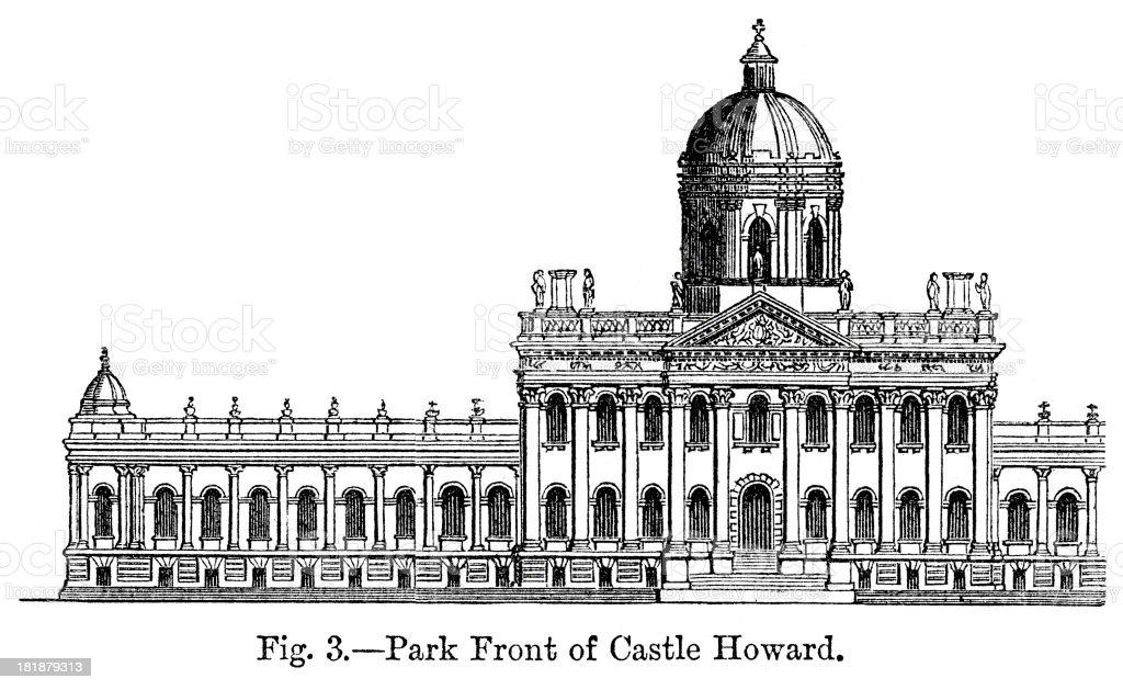 Castle Howard royalty-free stock vector art