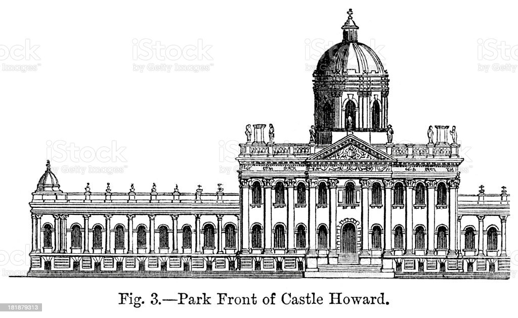 Castle Howard vector art illustration