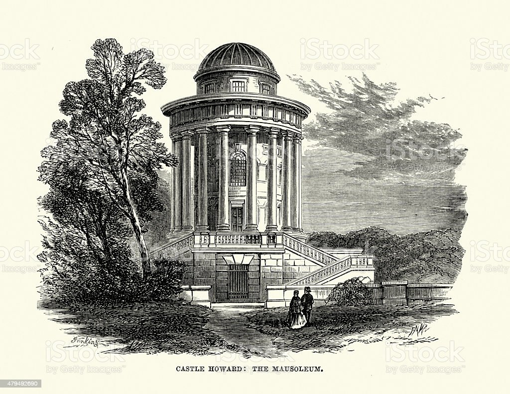 Castle Howard the Mausoleum vector art illustration