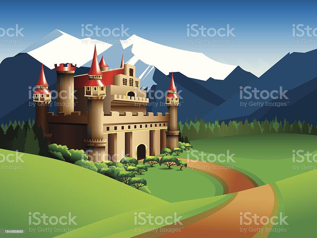 Castle vector art illustration