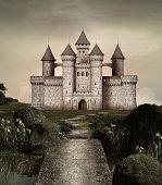 Castle in an enchanted garden