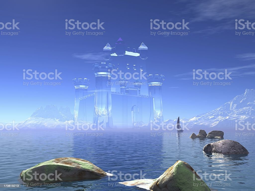 Castle in the air,yacht royalty-free stock vector art