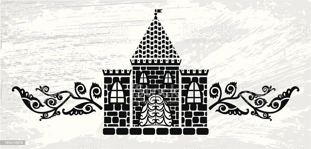 castle logo royalty-free stock vector art