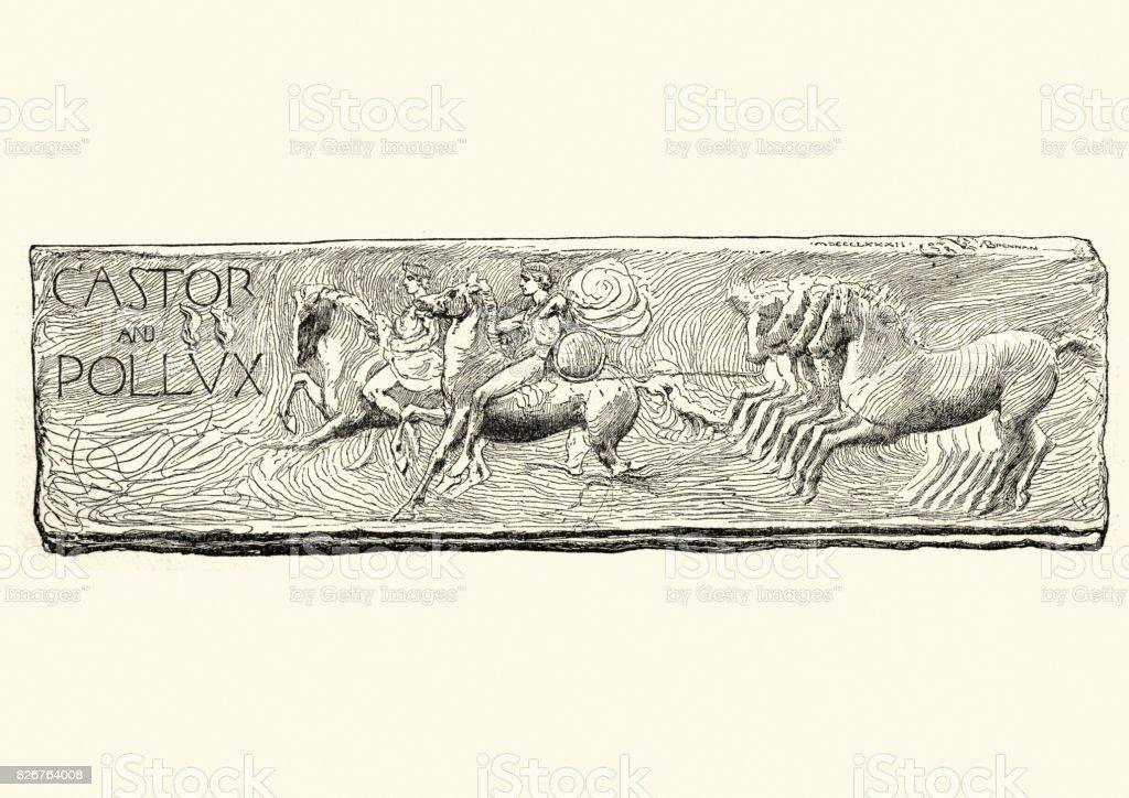 Castor and Pollux vector art illustration