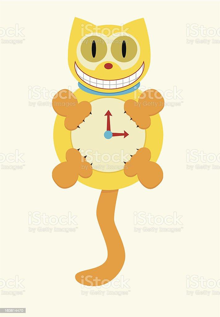 Cat Clock royalty-free stock vector art